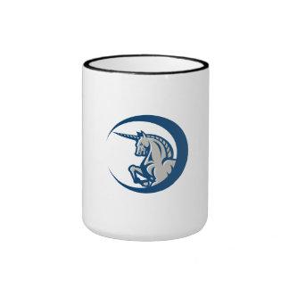 Unicorn Horse Prancing Side Ringer Coffee Mug