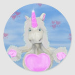 Unicorn Hugs Classic Round Sticker