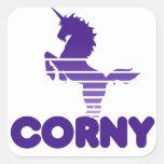 Unicorn Humor Square Stickers