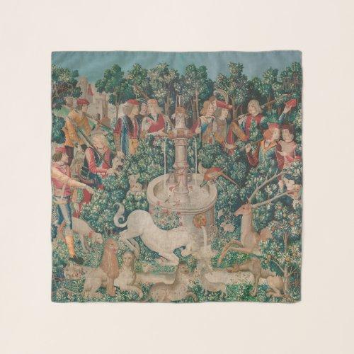 Unicorn Hunt Medieval Art - Unicorn Is Found Scarf