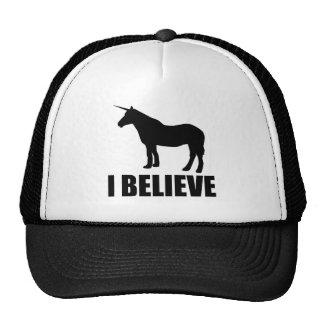 Unicorn I Believe Mesh Hats