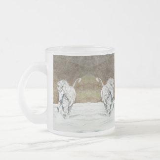 Unicorn Icelandic 10 Oz Frosted Glass Coffee Mug