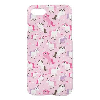 unicorn illustration kids background iPhone 8/7 case