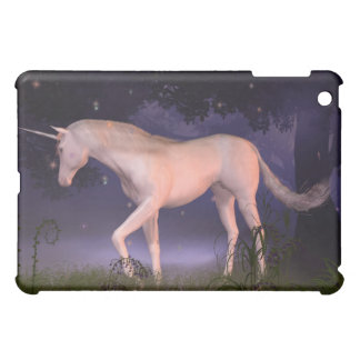 Unicorn in a Misty Forest Glade Cover For The iPad Mini