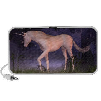 Unicorn in a Misty Forest Glade Notebook Speakers