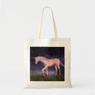 Unicorn in a Misty Forest Glade Tote Bag