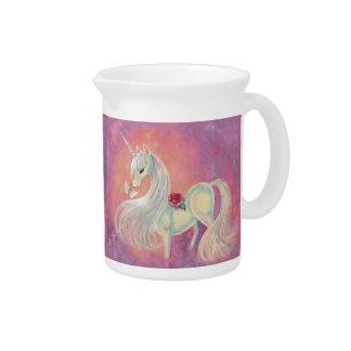 Unicorn In Blush Of Dawn Beverage Pitchers