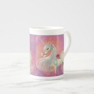 Unicorn In Blush Of Dawn Tea Cup