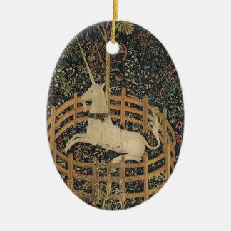 Unicorn in Captivity Ceramic Ornament