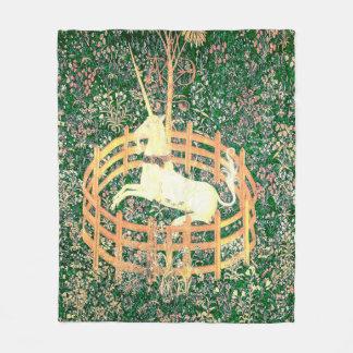 Unicorn In Captivity Fleece Blanket