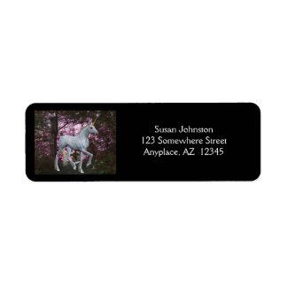 Unicorn In Forest Fantasy Address Label