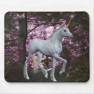 Unicorn In Forest Fantasy Mousepad