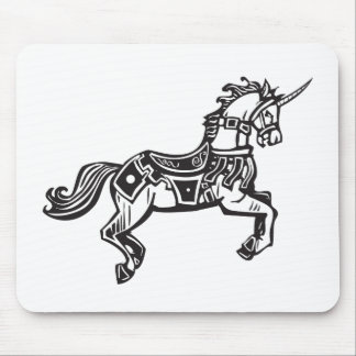 Unicorn in Livery Mouse Pad