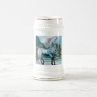 Unicorn in Moonlight Beer Stein 18 Oz Beer Stein