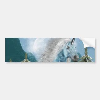 Unicorn in Moonlight Bumper Sticker Car Bumper Sticker