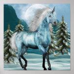 Unicorn in Moonlight Poster