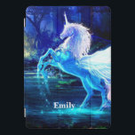 "Unicorn In Moonlight Your Name iPad iPad Pro Cover<br><div class=""desc"">Unicorn in moonlight. ipad 10 Pro cover. Add Your Name or leave it blank</div>"