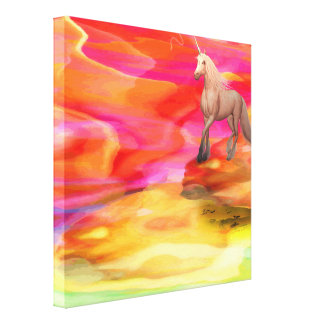 Unicorn in Painted Desert Canvas Print
