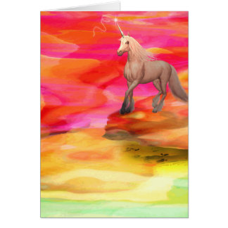 Unicorn in Painted Desert Card