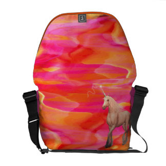 Unicorn in Painted Desert Courier Bag