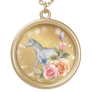Unicorn In Style Neck Lace Gold Plated Necklace