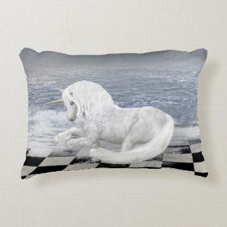 Unicorn in Surreal Seascape Accent Pillow