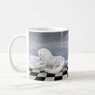 Unicorn in Surreal Seascape Basic White Mug