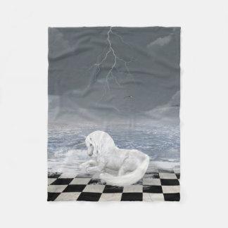 Unicorn in Surreal Seascape Fleece Blanket