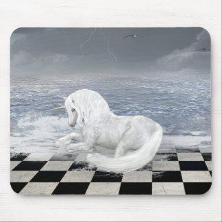 Unicorn in Surreal Seascape Mouse Pad