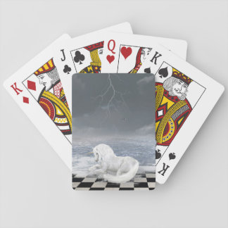 Unicorn in Surreal Seascape Playing Cards