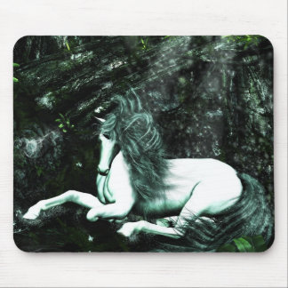 Unicorn in the Deep Woods Mouse Pad