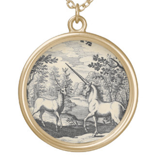 Unicorn in the Forest Gold Plated Necklace