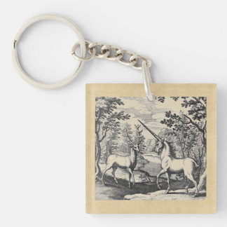 Unicorn in the Forest Keychain