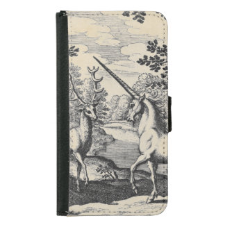 Unicorn in the Forest Wallet Phone Case For Samsung Galaxy S5