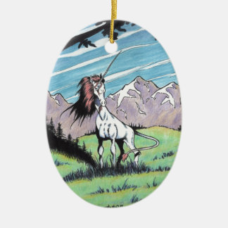 Unicorn in the glade christmas tree ornaments