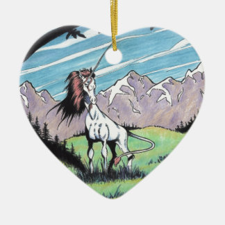 Unicorn in the glade christmas tree ornament