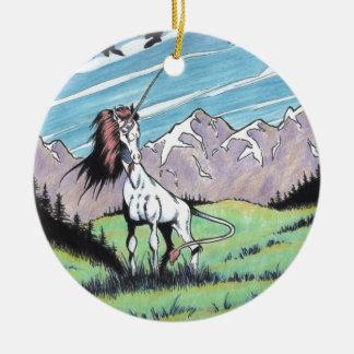 Unicorn in the glade ornaments
