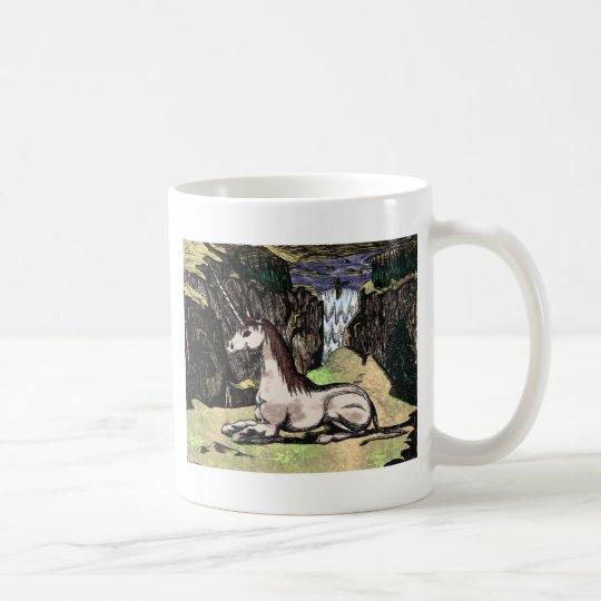 """Unicorn in the Mountains"" colorized Coffee Mug"