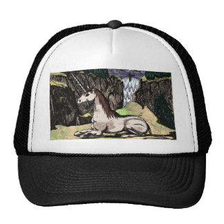 """Unicorn in the Mountains"" colorized Trucker Hat"
