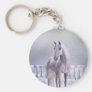 Unicorn in the Snow Keychain