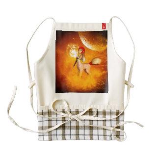 Unicorn in the universe zazzle HEART apron