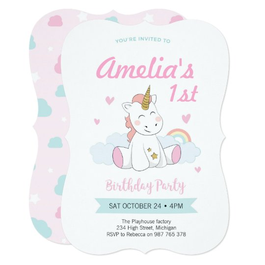 Unicorn Invitations Birthday