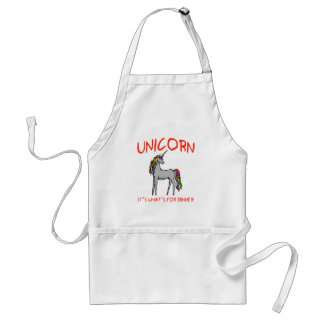 Unicorn It's What's For Dinner Adult Apron