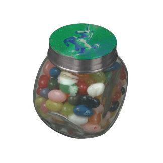 Unicorn Jelly Belly Glass Jar (Glowing Emerald)