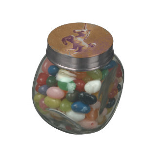 Unicorn Jelly Belly Glass Jar (Metal Lavender)