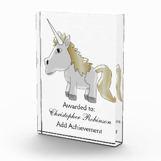 Unicorn Just Add Text Acrylic Award