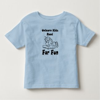 Unicorn Kids Read For Fun Black Logo Tee