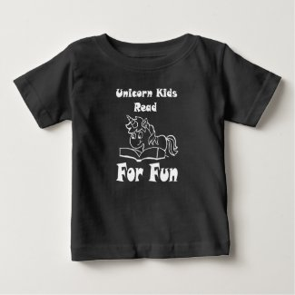 Unicorn Kids Read For Fun White Logo Tee