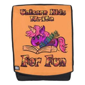 Unicorn Kids Write For Fun Backpack