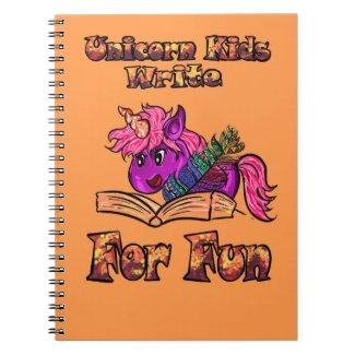 Unicorn Kids Write For Fun Notebook